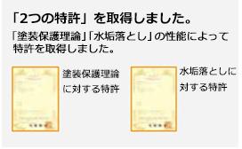 「2つの特許」を取得しました。