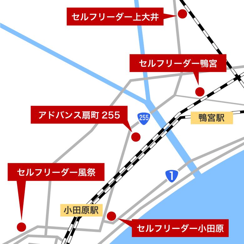 小田原地区MAP